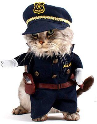 Costume pour chat policier Forces de l'ordre